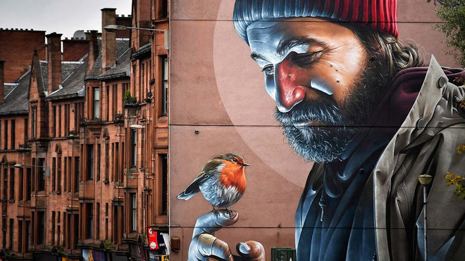 Food & Wine: Street Art Makes for a Stunning Walking Tour in Glasgow