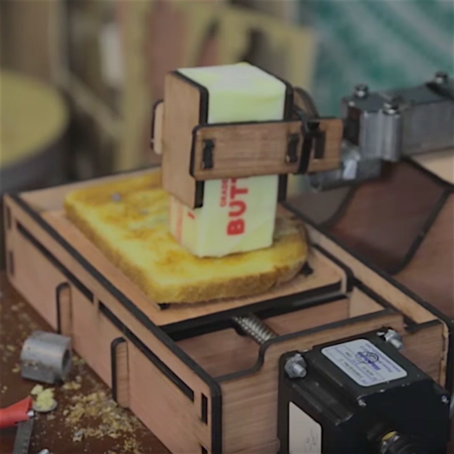 Here's the Toast Buttering Robot You Don't Need