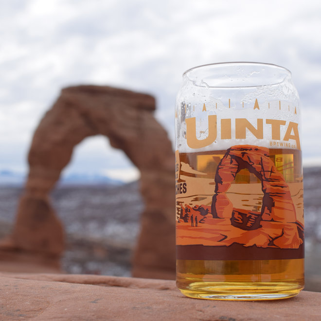 Arches National Park beer glass