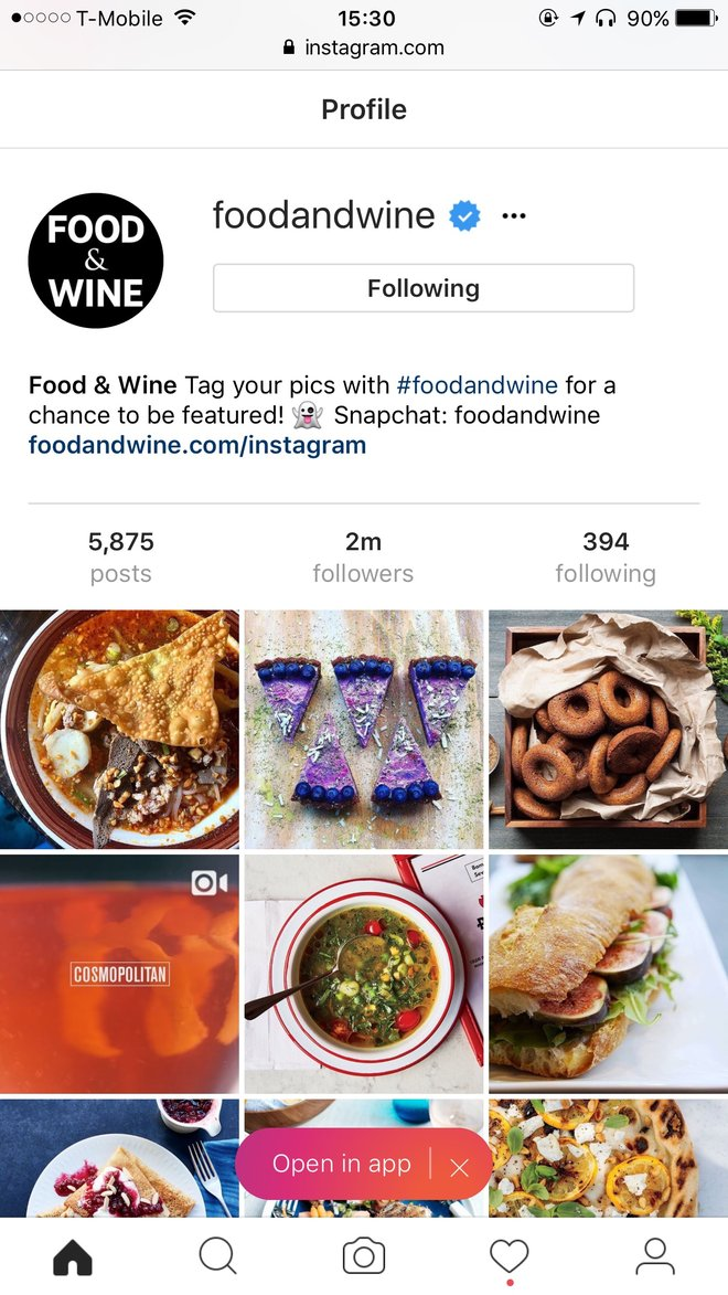 Food & Wine: How to Upload Food Photos to Instagram Directly From Your Computer