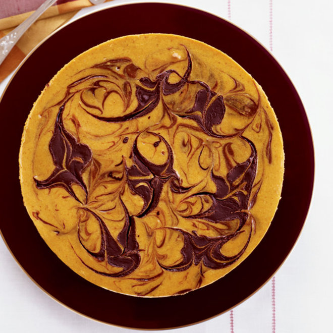 Food & Wine: Marbled Pumpkin Cheesecake with a Brownie Crust
