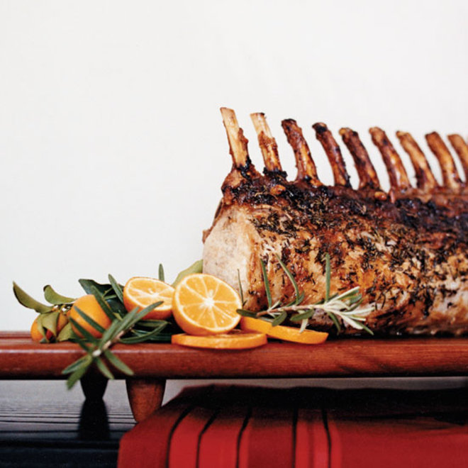 Food & Wine: Pork Roast with Sausage, Fruit and Nut Stuffing