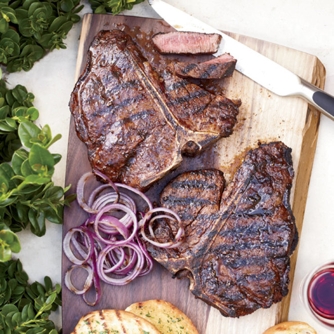Food & Wine: Spice-Rubbed T-Bone Steaks