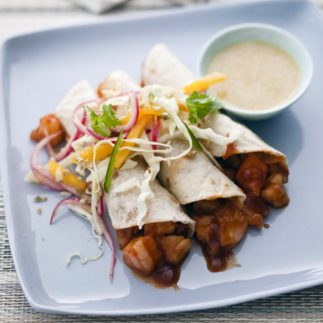 Food & Wine: Shrimp Tacos with Pickled-Red-Onion Salad
