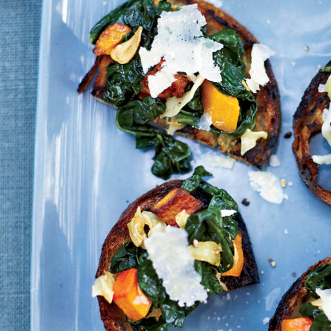 Food & Wine: Squash-and-Kale Toasts