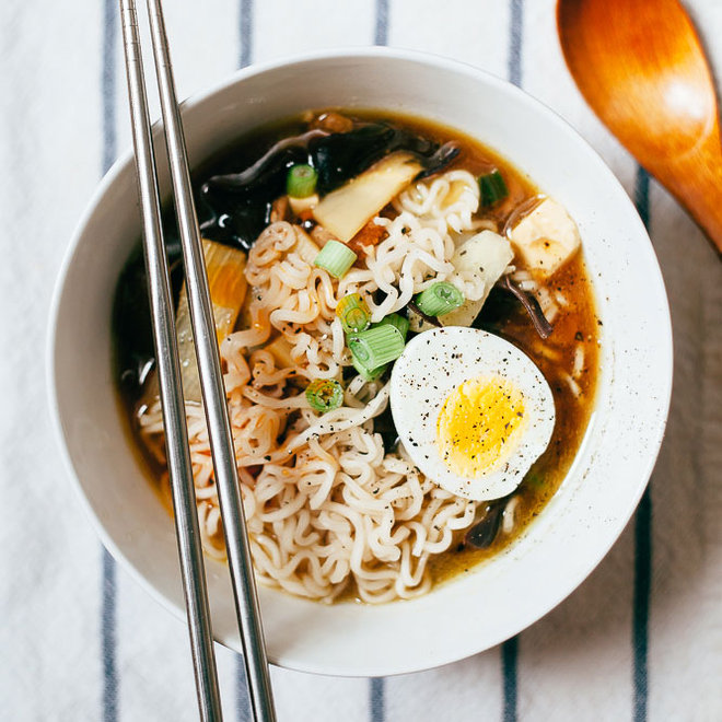 Food & Wine: A warming bowl of hot and sour soup with ramen noodles