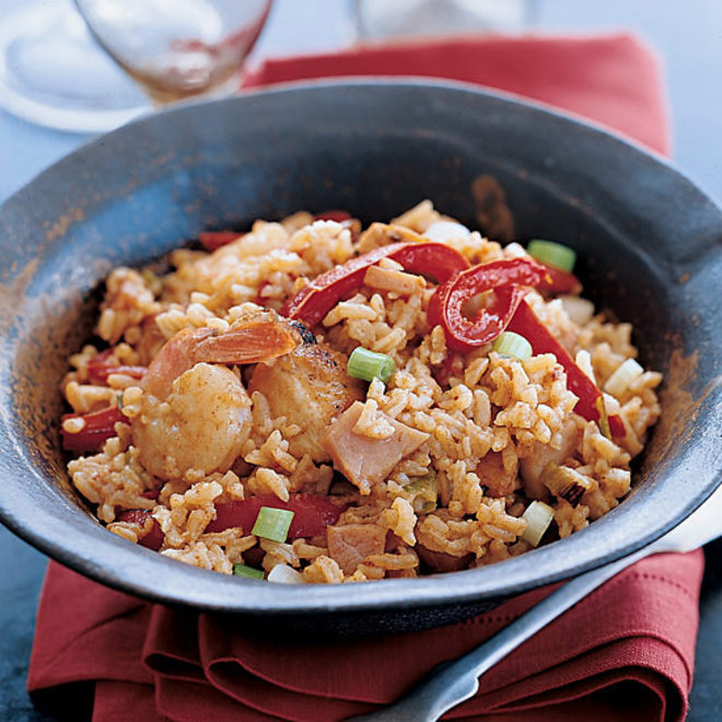 Food & Wine: Creole Chicken and Ham Fried Rice
