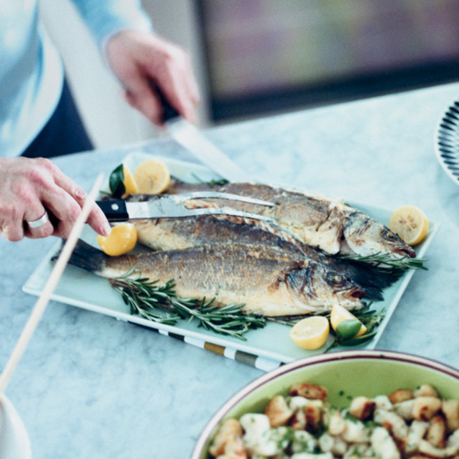 Food & Wine: Roasted Branzino with Caper Butter