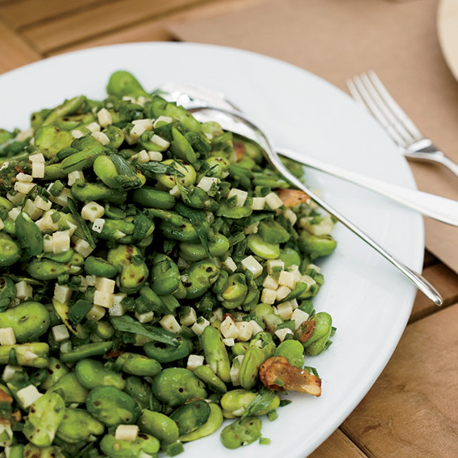 Food & Wine: Charred Fava Bean Salad with Lemon and Tarragon