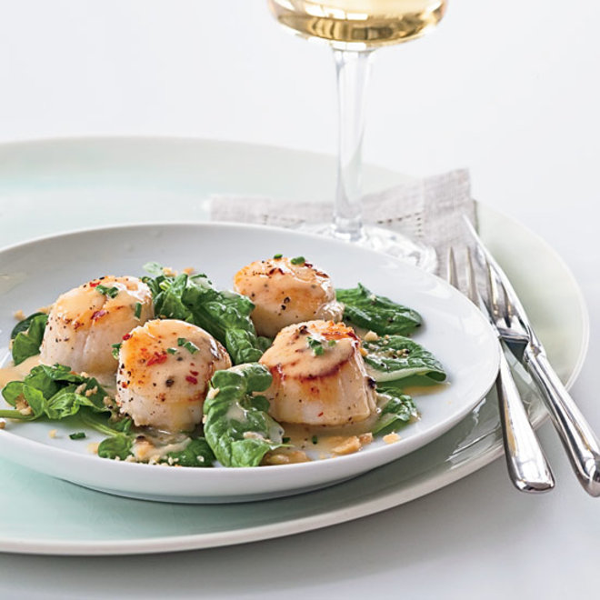 Food & Wine: Seared scallops in a Pinot Gris butter sauce
