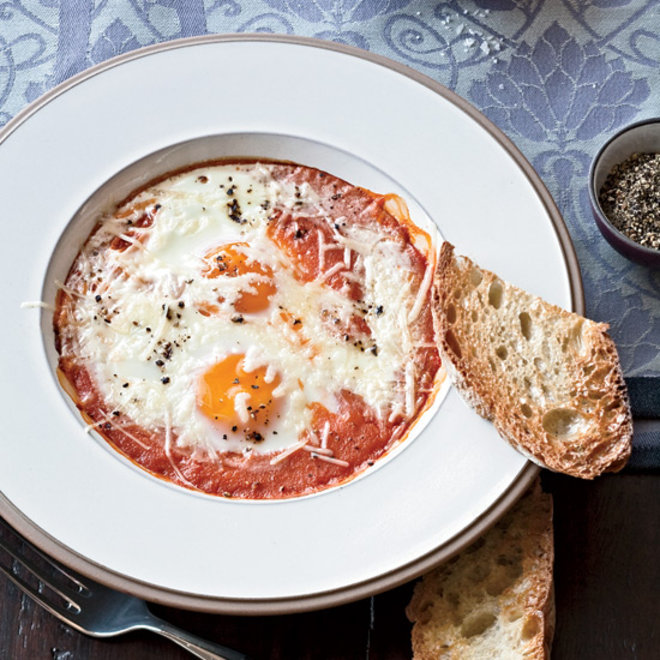 Food & Wine: Baked Eggs in Roasted Tomato Sauce