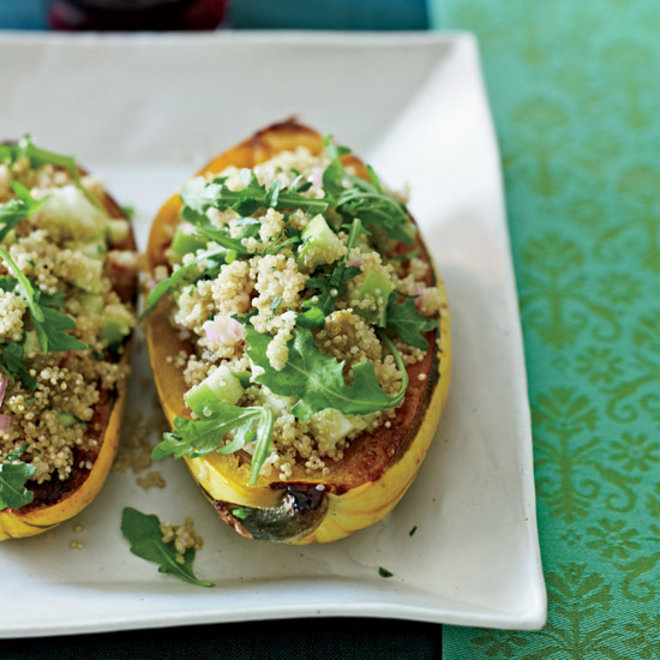 Food & Wine: Delicata Squash with Quinoa Salad