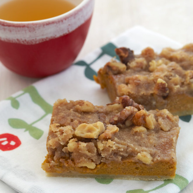 Food & Wine: Pumpkin-Walnut Praline Bars
