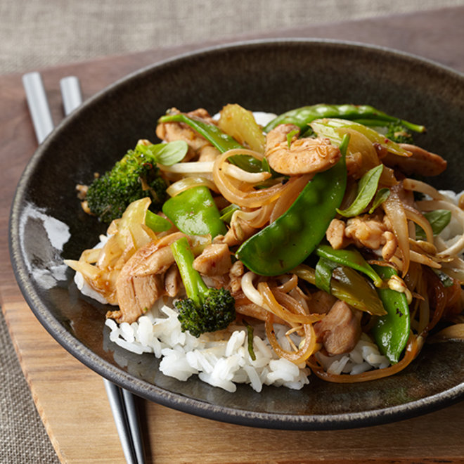 Food & Wine: Vegetable and Chicken Stir-Fry