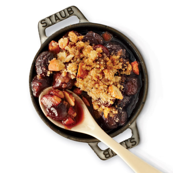Food & Wine: Fruit crisp with cherry lambic