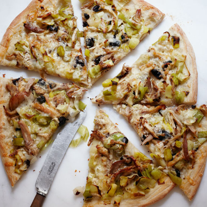 Food & Wine: Roasted Chicken and Leek Pizza