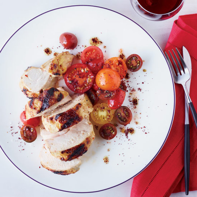 Food & Wine: Grilled Chicken with Spiced Red-Pepper Paste