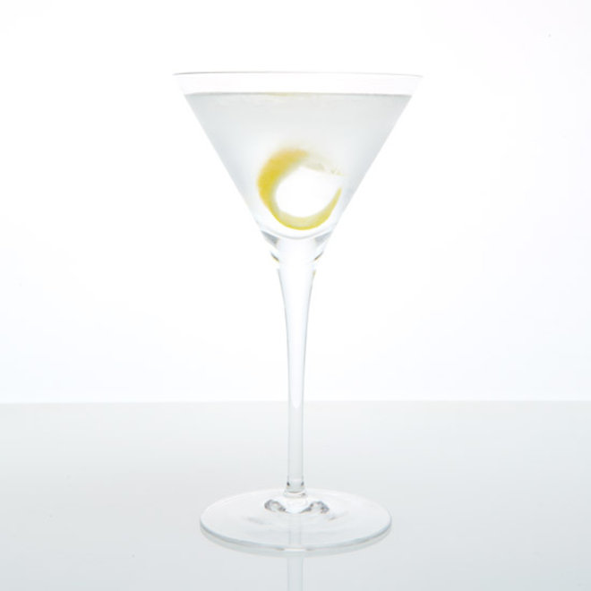 Food & Wine: A dry martini.