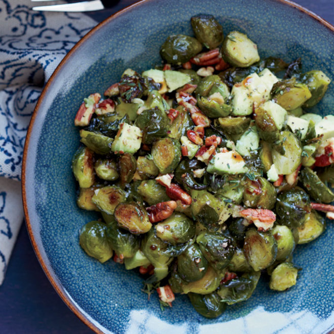 Food & Wine: Roasted Brussels Sprouts with Toasted Pecans and Avocado