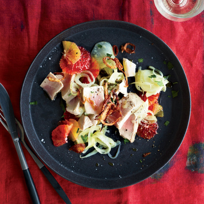 Food & Wine: Oil-Poached Tuna with Fennel and Orange