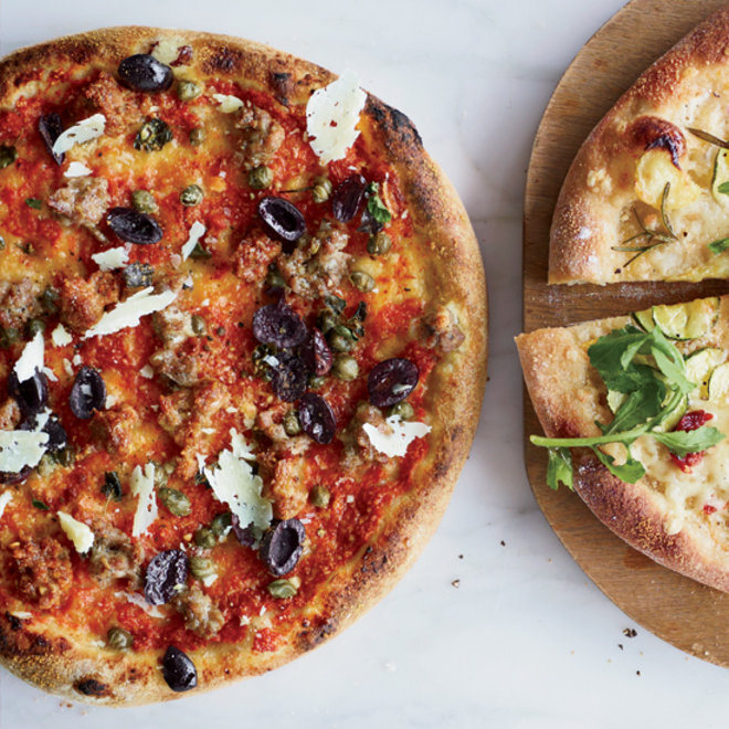 Food & Wine: Sausage-and-Olive Pizza with Capers and Pecorino Sardo