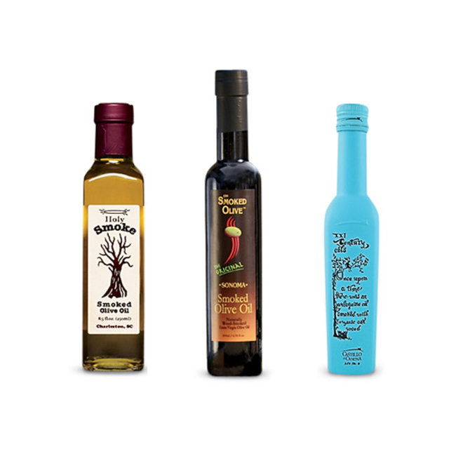 Food & Wine: Smoky olive oils.