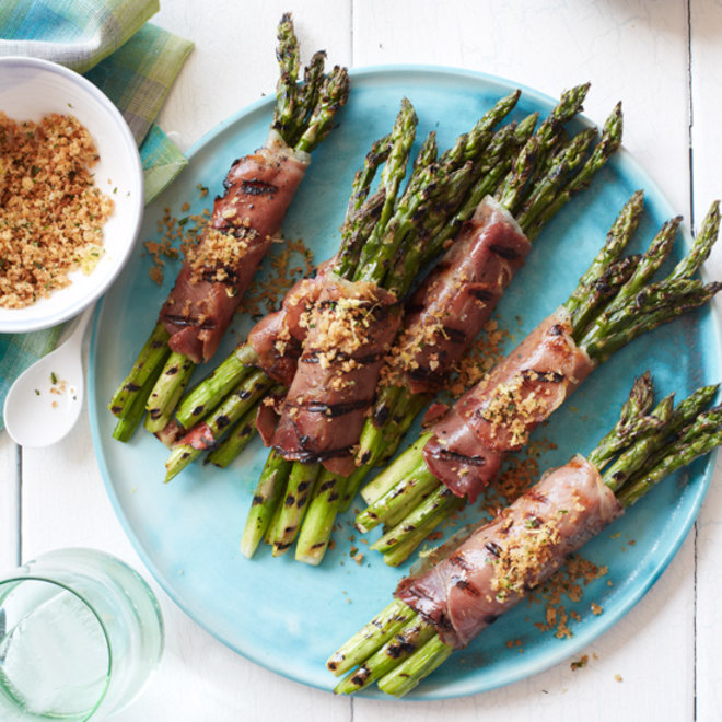 Food & Wine: Prosciutto-Wrapped Asparagus with Lemony Bread Crumbs