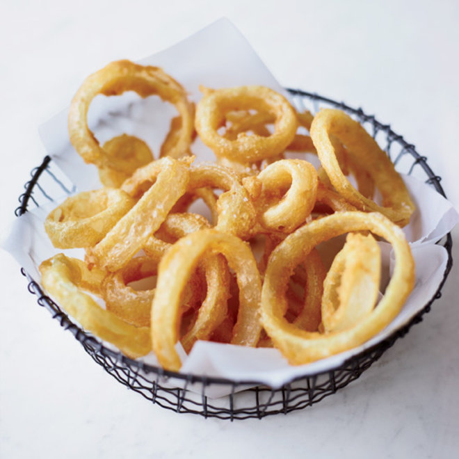 Food & Wine: A bowl of crisp and lacy onion rings