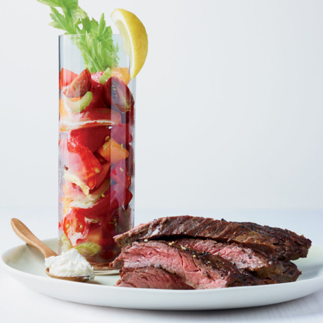 Food & Wine: Skirt Steak with Bloody Mary Tomato Salad