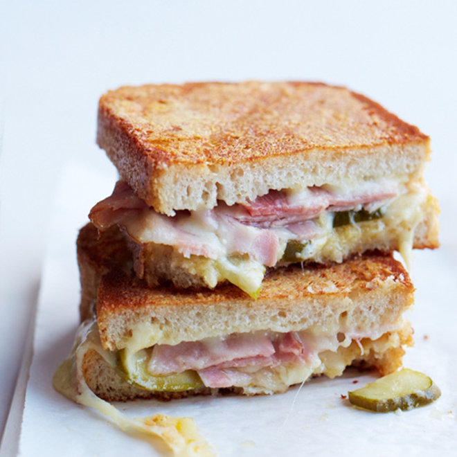 Food & Wine: Inside-Out Grilled Cheese Sandwich