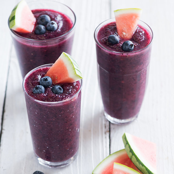 Blueberry and Watermelon Slushie