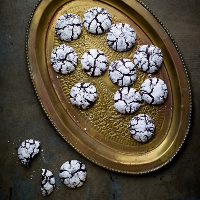 Food & Wine: Dark Chocolate Vanilla Crack Cookies