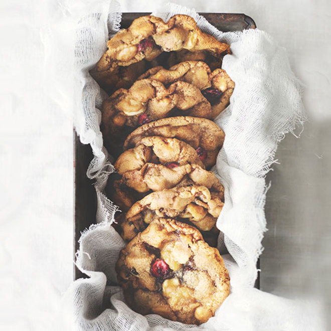 Food & Wine: Macadamia, Cranberry and White Chocolate Cookies