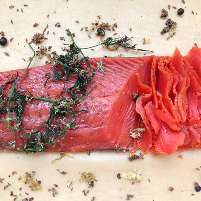 Food & Wine: Grapefruit-and-Juniper Cured Salmon
