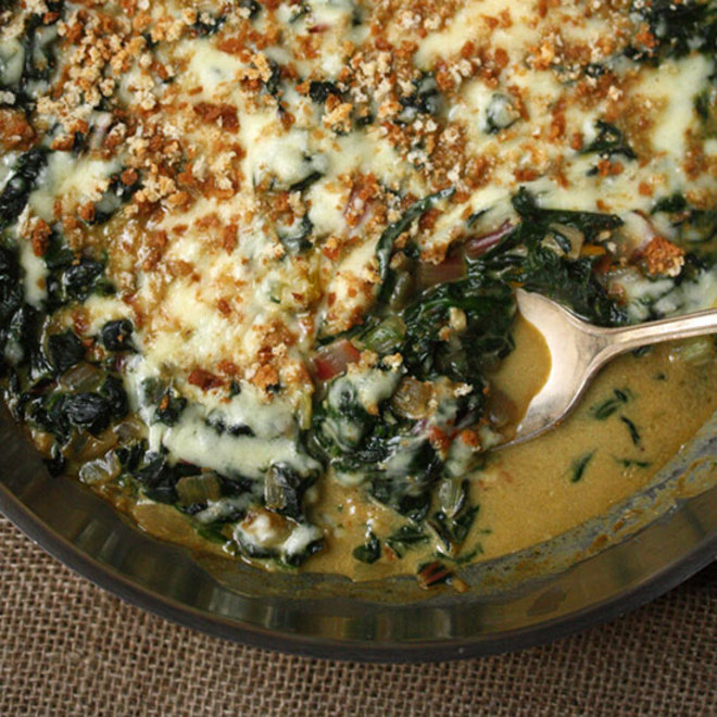 Food & Wine: Cheesy Winter Greens Casserole