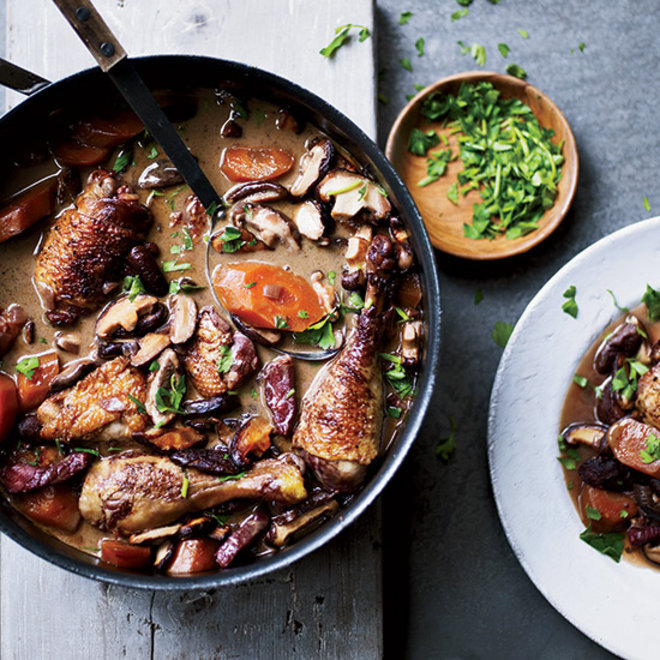 Food & Wine: Traditional French Stew Coq au Vin
