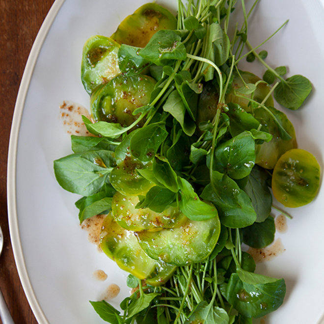 Food & Wine: Watercress and Green Tomatoes in Browned Butter