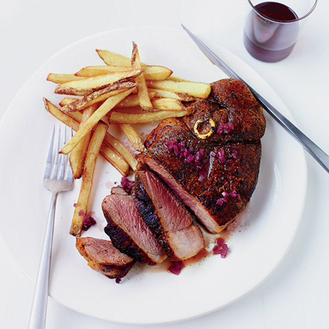 Food & Wine: Lamb Steak Frites