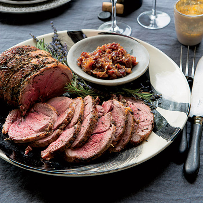 Food & Wine: Roast Leg of Lamb with Rosemary and Lavender