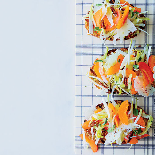 Food & Wine: Endive-and-Apricot Tartines