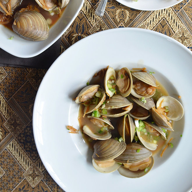 Food & Wine: Manila Clams with Soy Butter