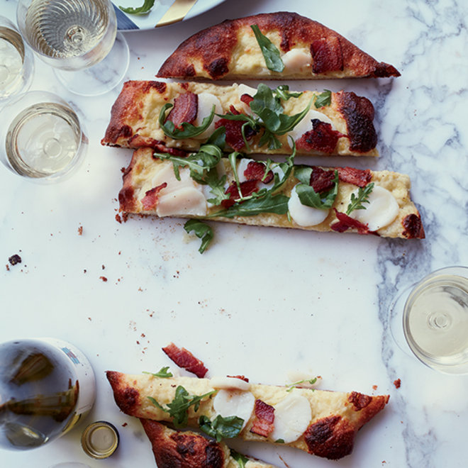 Food & Wine: Scallop and Bacon Pizza
