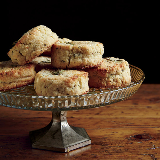 Food & Wine: Sugared Lemon Rosemary Scones