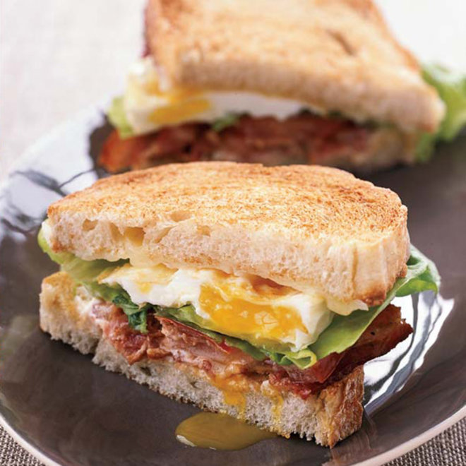 Food & Wine: BLT Fried Egg-and-Cheese Sandwich