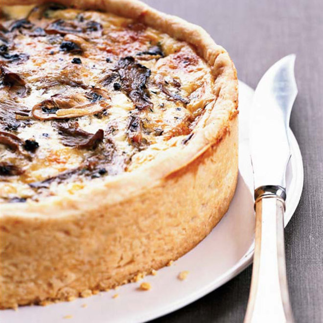 Food & Wine: Over-the-Top Mushroom Quiche