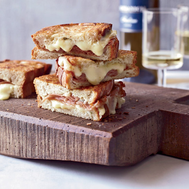 Food & Wine: Mortadella and Cheese Panini