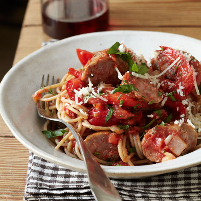 Food & Wine: Whole-Wheat Spaghetti with Sausage