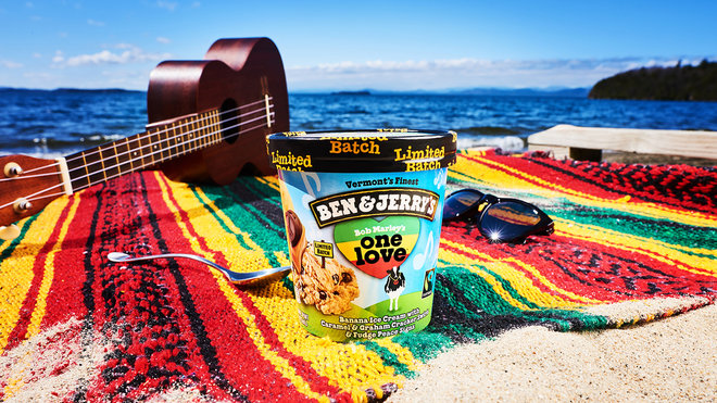 Bob Marley inspires One Love Ben & Jerry's ice cream