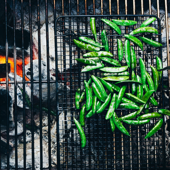 Food & Wine: Blistered Snap Peas with Everything-Bagel Seasonings