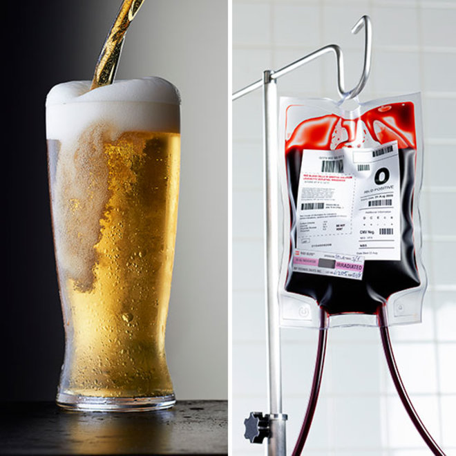 blood donors and beer